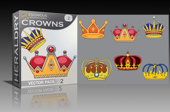 crowns2 small Designious v2, crowns vector pack and twitter