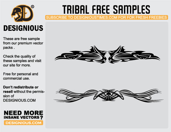 designious tribal free samples Awesome premium vector freebies
