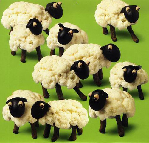 food sheep Thou shall play with your food!  Creative Food Art