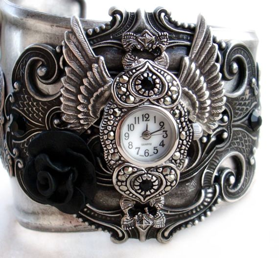 Steampunk   Gothic Cuff Watch by Aranwen1 Steampunk   An inspiration from clockworks
