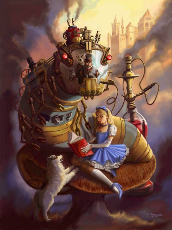 steampunk alice in wonderland1 Steampunk   An inspiration from clockworks