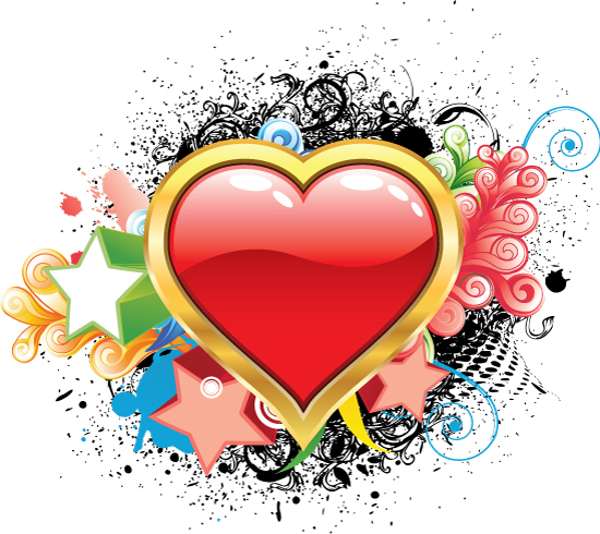 valentines day vector image illustration1 Free Valentines day vector illustration