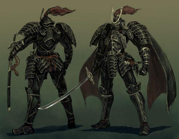 black samurai knight