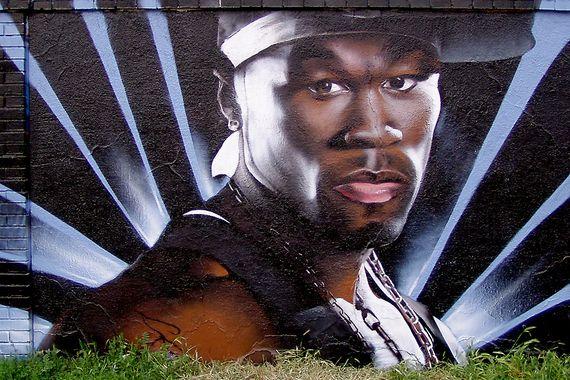 fifty cent graffiti