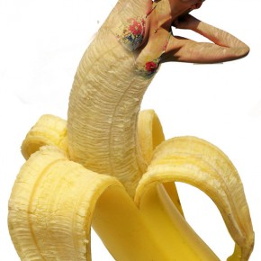 woman in banana