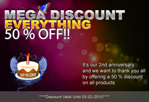 anniversary Vector clip art+PS brushses at 50% discount=2 years of Designious