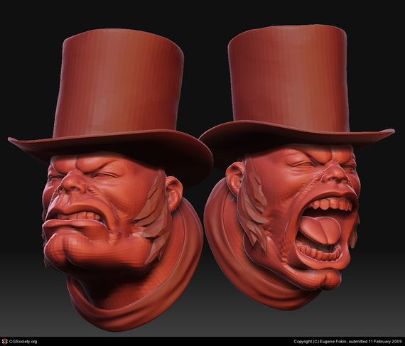 demon with hat Artist of the week   Eugene Fokin   Maya, behind the scenes