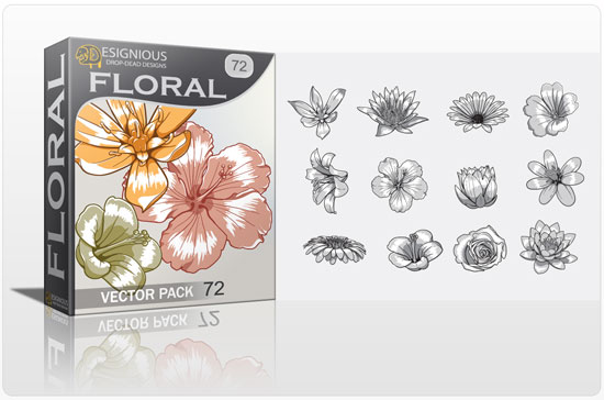 floral vector packs 72 Vector freebies and premium: floral, wings and t shirts