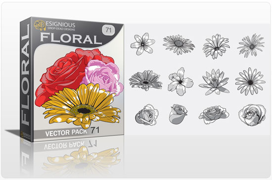 floral71 petals Vector freebies and premium: floral, wings and t shirts