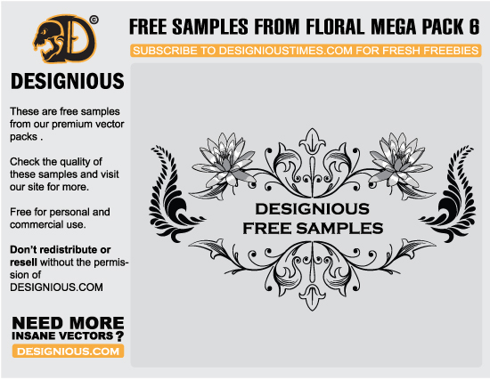 free vector flower clipart Vector freebies and premium: floral, wings and t shirts