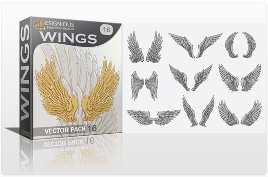vector wings 16 Vector freebies and premium: floral, wings and t shirts