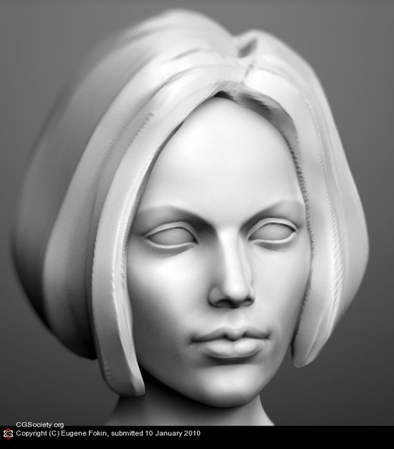 wip of a woman head Artist of the week   Eugene Fokin   Maya, behind the scenes