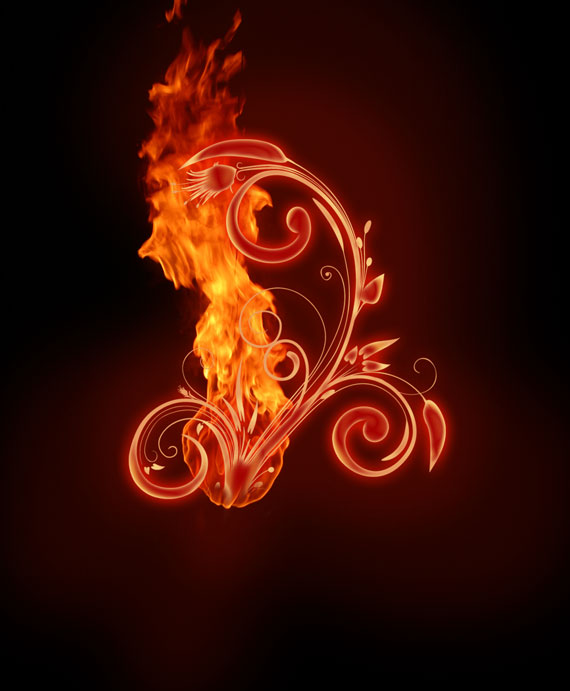 121 Tutorial: How to create a burning flower in Photoshop