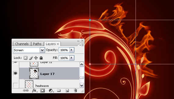 18 Tutorial: How to create a burning flower in Photoshop