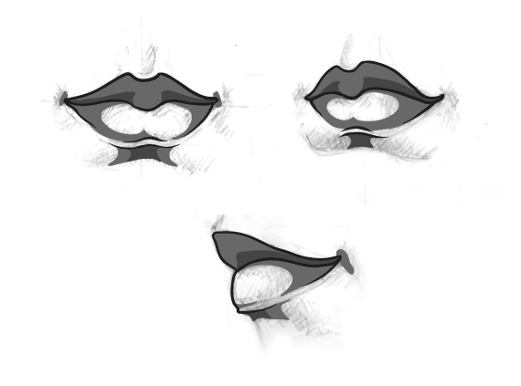 drawing vector portraits part 4  the lips