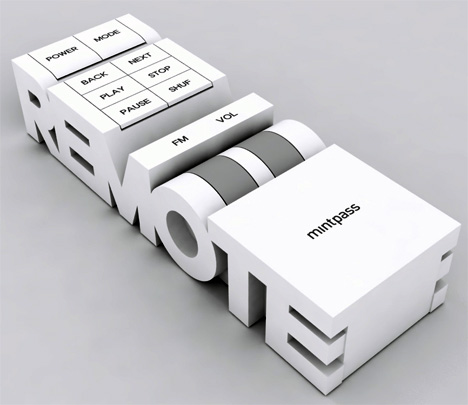 remote more than words Creative literal product designs