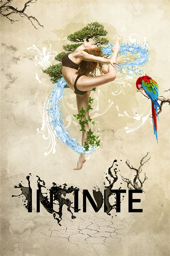 59 How to create a dynamic nature poster in Photoshop