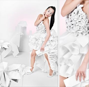 Origami fashion 1 35+ Origami inspired fashion designs