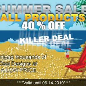summer vector sale