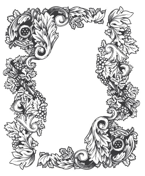 baroque floral frame The Influence of Art History on Modern Design – Baroque Style
