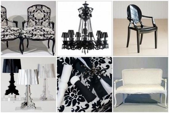 blackandwhitebaroqueweddingstyle 550x367 The Influence of Art History on Modern Design – Baroque Style