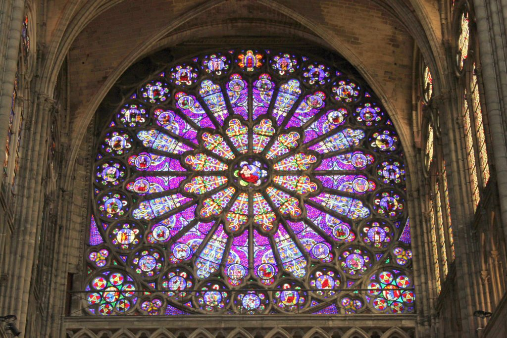 Rose window at the Basilica of St. Denis.