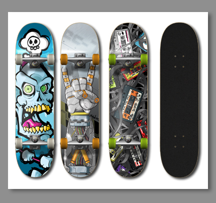 1285961268969624 Design on Wheels   100+ Seriously Awesome Skateboard Prints