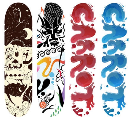 1689281844 6632f305d1 Design on Wheels   100+ Seriously Awesome Skateboard Prints