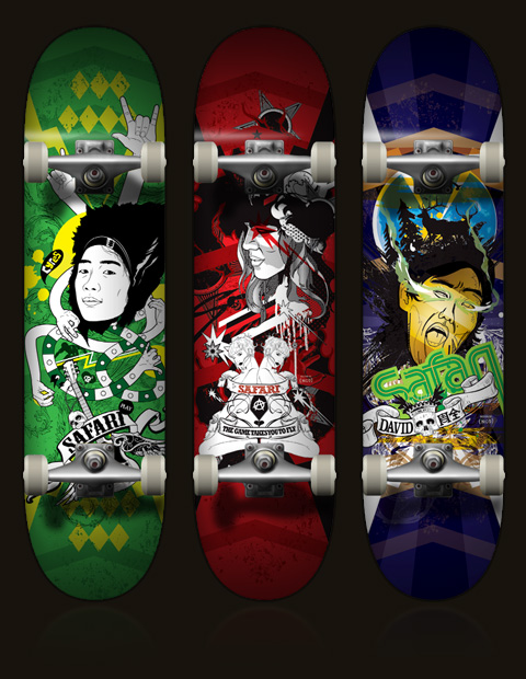 200931617271056232 Design on Wheels   100+ Seriously Awesome Skateboard Prints