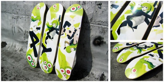 599891205181396 550x278 Design on Wheels   100+ Seriously Awesome Skateboard Prints