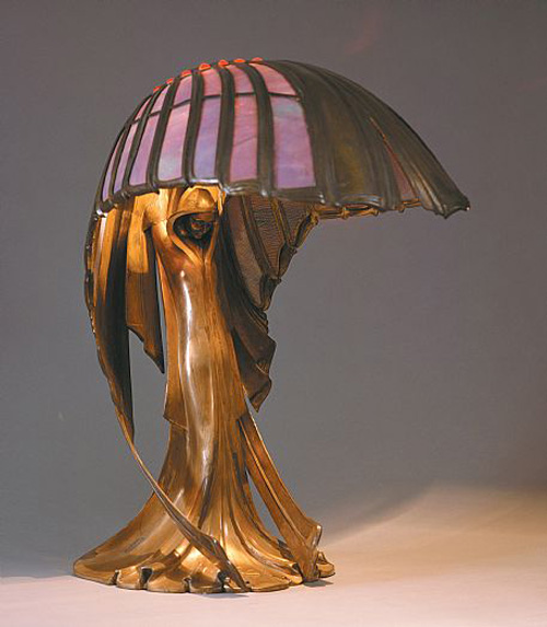 Behrens table lamp The Influence of Art History on Modern Design   Art Nouveau