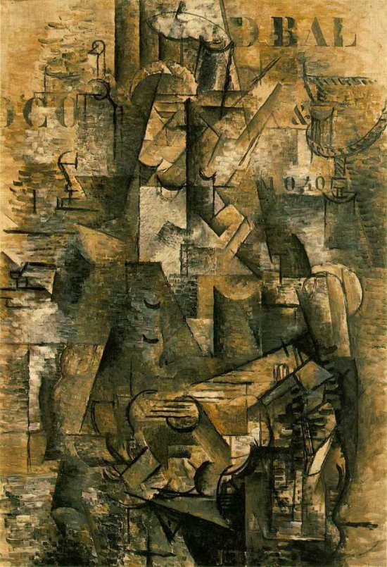 Le Portugais The Emigrant Georges Braque 1911 12 550x805 The Influence of Art History on Modern Design   Cubism
