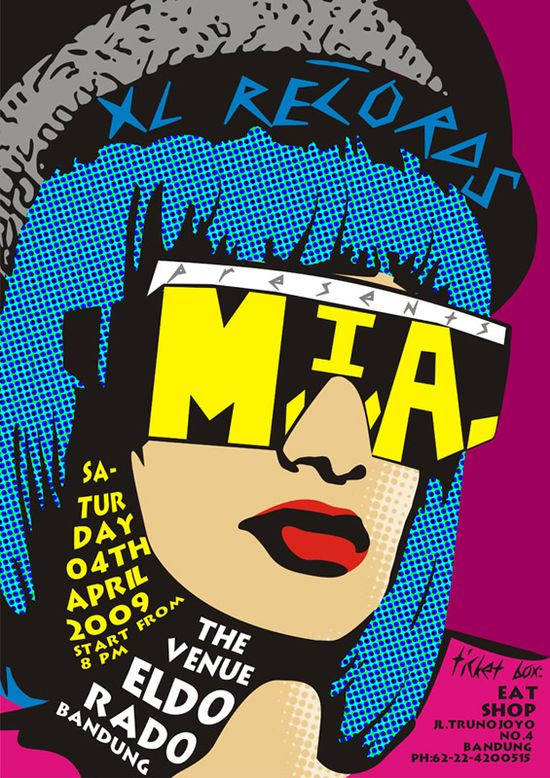 M I A in pop art by apsarasapsari The Influence of Art History on Modern Design   Pop Art