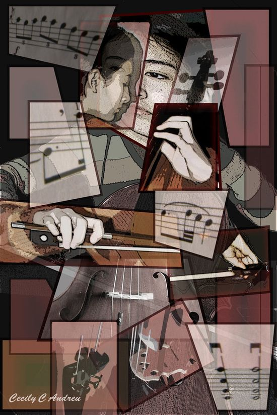 The Cello Player   Cubism by hummingbird44 The Influence of Art History on Modern Design   Cubism