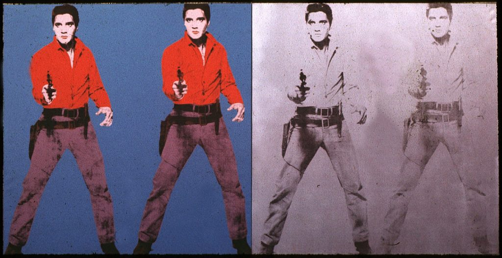 high art low art andy warhol elvis presley