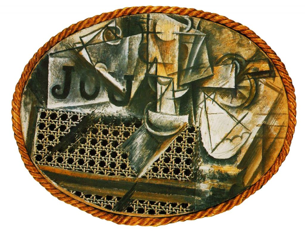 the influence of art history on modern design cubism pixel picasso 1912 still life chair caning 1st