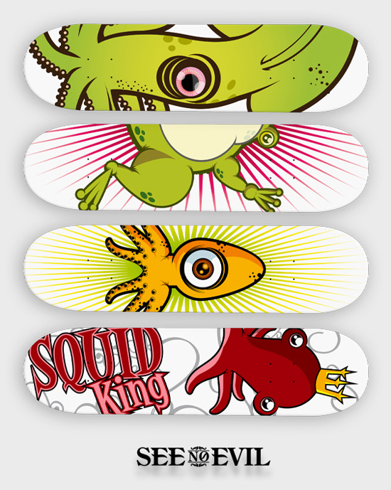 skate board design 13 Design on Wheels   100+ Seriously Awesome Skateboard Prints