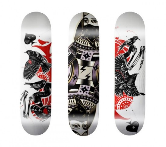 skate board design 15 550x485 Design on Wheels   100+ Seriously Awesome Skateboard Prints