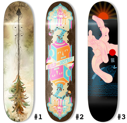 skateboards finalists Design on Wheels   100+ Seriously Awesome Skateboard Prints