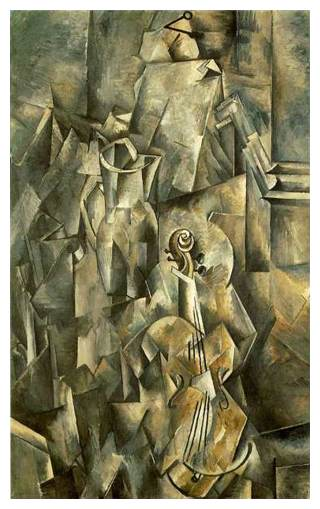 violin and pitcher The Influence of Art History on Modern Design   Cubism
