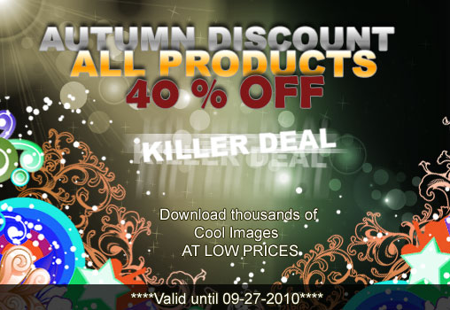 autumn discount 40% discount for all products on Designious.com