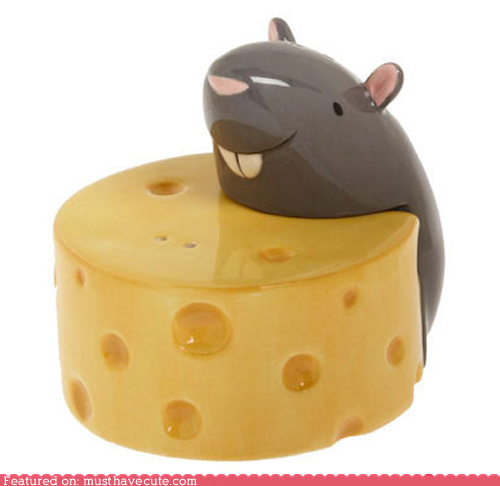 cheese and mouse salt and pepper shaker design 35+ Creative and Funny Salt and Pepper Shakers