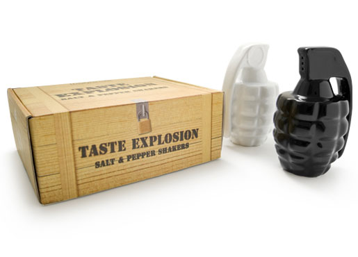 grenades salt and pepper shakers design 35+ Creative and Funny Salt and Pepper Shakers