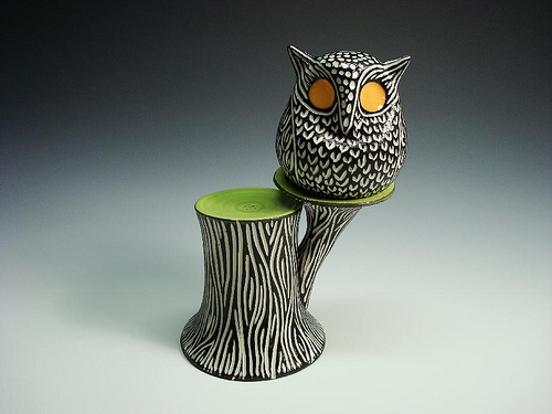 owl in a tree salt and pepper shaker design 35+ Creative and Funny Salt and Pepper Shakers