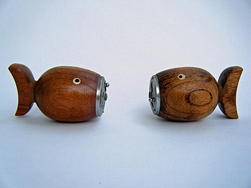 wooden fish salt and pepper shaker design 35+ Creative and Funny Salt and Pepper Shakers