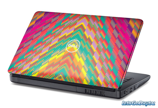colorful laptop skin 20 Really Cool Laptop Skin Designs