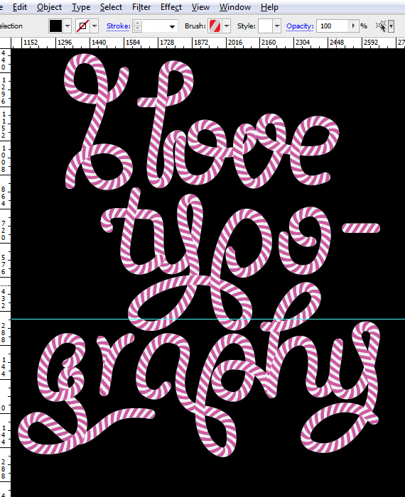 24 designioustimes candy cane type tutorial How to Create Candy Cane Typography with Photoshop and Illustrator