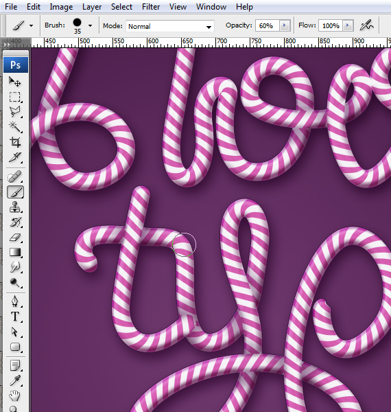 29 designioustimes candy cane type tutorial How to Create Candy Cane Typography with Photoshop and Illustrator