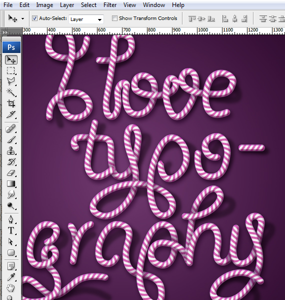 30 designioustimes candy cane type tutorial How to Create Candy Cane Typography with Photoshop and Illustrator
