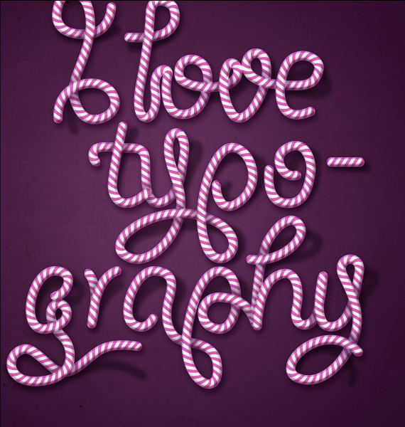 31 designioustimes candy cane type tutorial How to Create Candy Cane Typography with Photoshop and Illustrator